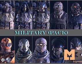 3D asset PBR Military Pack