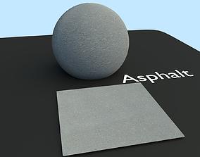 Scanned Asphalt Texture 3D model
