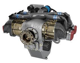3D Piston Aircraft Engine ULPower UL260i