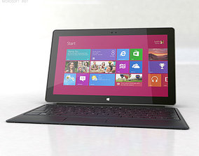 Microsoft Surface Pro with Type Cover 3D asset