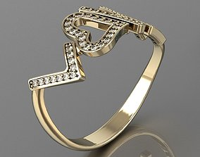 3D printable model Love is all u need ring