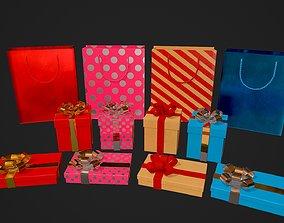 Birthday Gift Pack 3D model