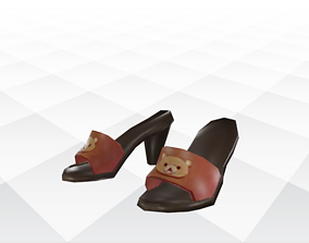 3D asset realtime Shoes Sandals and Slippers shoes