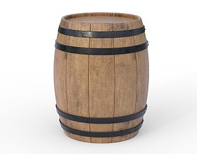 3D model industrial Wooden barrel