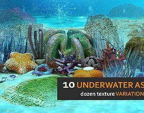 Underwater Flora Set 3D model