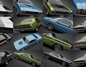1971 Dodge Challenger Collection 3D model
