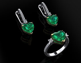 3D printable model Ring and Earrings 43