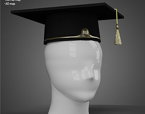 game-ready Graduation hat - Low Poly model