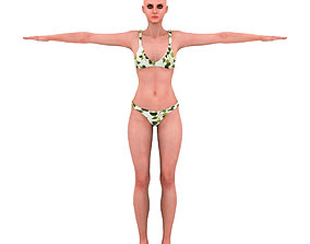 3D asset Bikini Girl Rigged