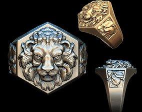 3D printable model Lions ring