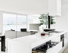 3D model Residential living room