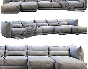 Montauk Jane leather sofa 3D
