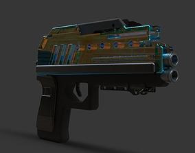 gun 3D model pistol