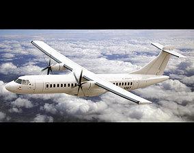 3D ATR 72 Generic White