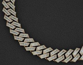 21 MM BAGUETTE CUBAN LINK CHAIN FOR 3D printable model