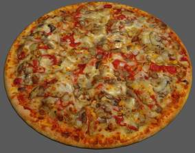 3D model Pizza vegetable