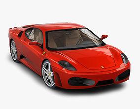 Ferrari F430 Berlinetta 3D asset low-poly