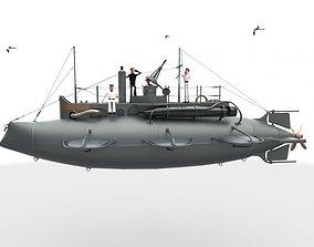Submarine 3D model submarine