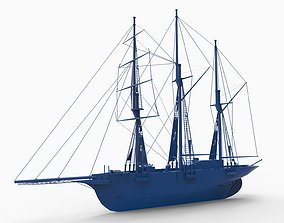 3D print model old ship mod2