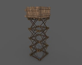 3D asset game-ready ancient watchtower