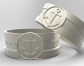 Mens Nautical Ring 3D print model