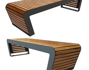 bench Flash backless 3D model