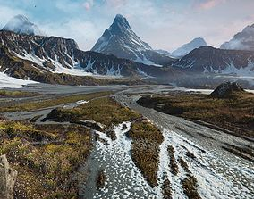 Mountain Lake Valley Environment - Unity 2017 3D model