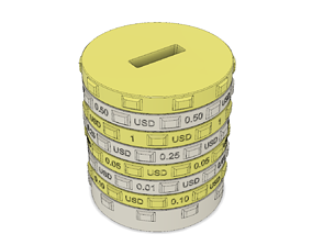 3D printable model Sorting piggy bank USD - M size