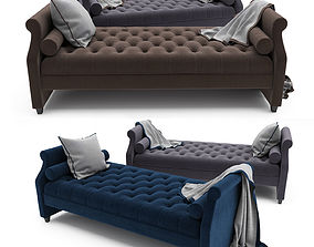 Tufted Sofa Bed 3D