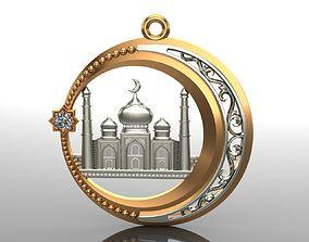 Pendant 04 Mosque 3D print model