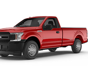 Ford F150 XL reg pickup 3D model VR / AR ready