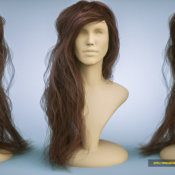 Girl character render. Type 1
