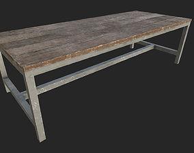 3D model Wooden Table 4 PBR
