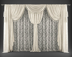 low-poly Curtain 3D model 368