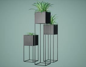 Decor Pot Low Poly Game Ready 3D model low-poly