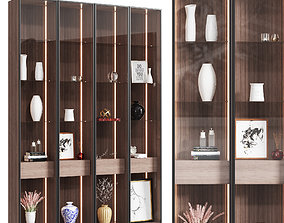 3D Wooden cabinet with decor