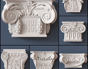 3D model 10 Pilaster Capitals Collection