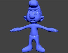 smurf 3D printable model wiz