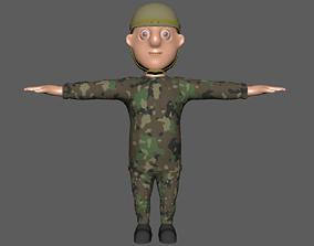 3D asset Soldier Rigging