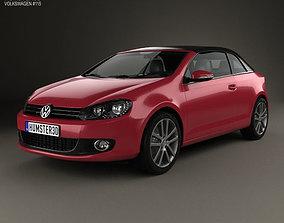 3D Volkswagen Golf convertible 2011
