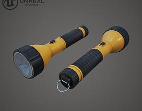 Flashlight 3D model low-poly