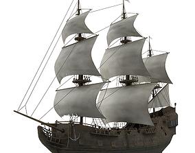 Sailboat Galleon 3D model