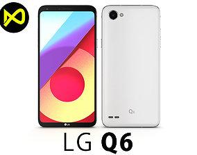 LG Q6 Mystic White 3D model