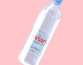 3D model Evian Bottle