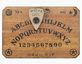 3D model Ouija Board and Planchette