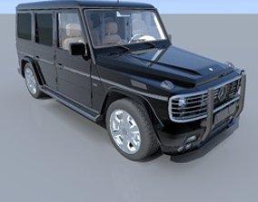 windshield 3D model Mercedes Class G 500