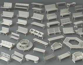Benches - Part - 2 - 40 pieces 3D