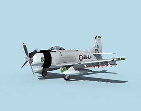 3D model Douglas A-1H Skyraider French AF