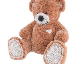 3D model Teddy Bear I Love You