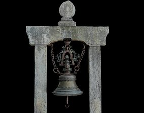 Ancient Bell with 3 LOD - Nepal Heritage 3D asset